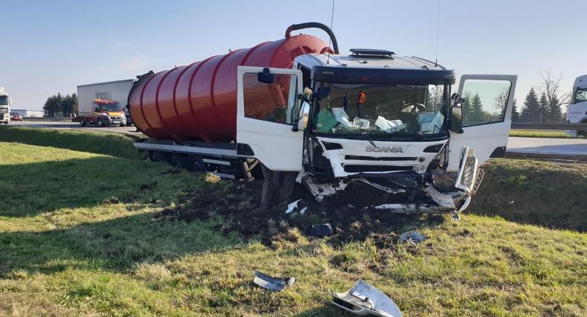 Autostrada A4, Wypadek cysterny Zablokowana autostrada - zdjęcie, fotografia