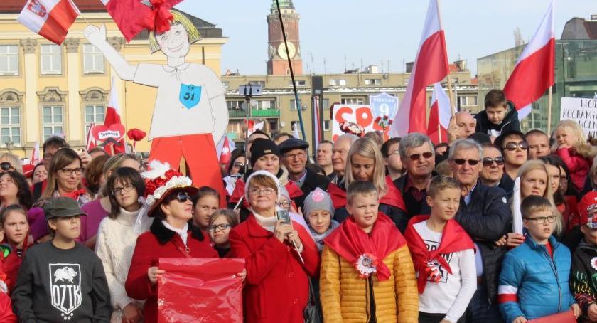 Społeczeństwo, Obchody Narodowego Święta Niepodległości Wrocławiu - zdjęcie, fotografia