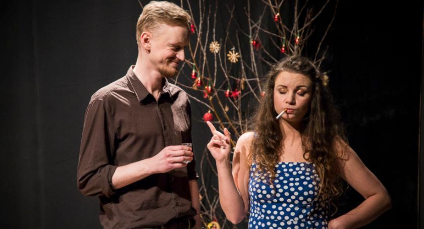 Teatr, Mrożka Projekta Rozmaite wokalem Philipa Fairweathera żywo - zdjęcie, fotografia