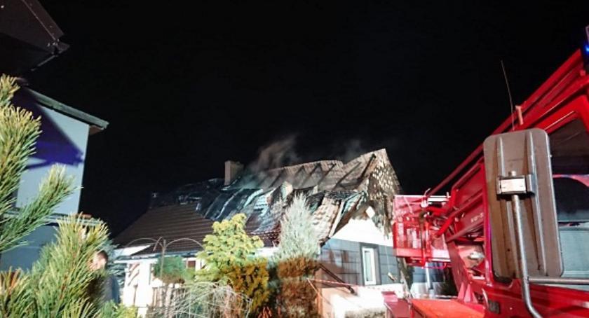 Pożary, Pożar Miliczem Pogorzelcy dachu głową - zdjęcie, fotografia
