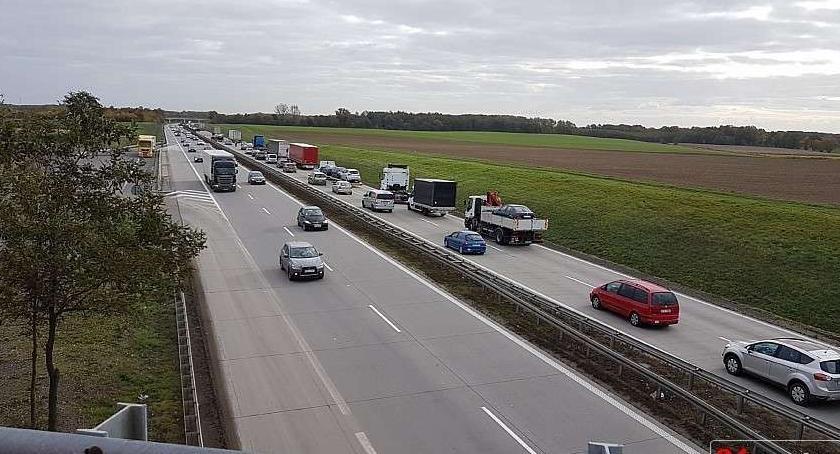 Autostrada A4, Pijany jechał autostradą - zdjęcie, fotografia