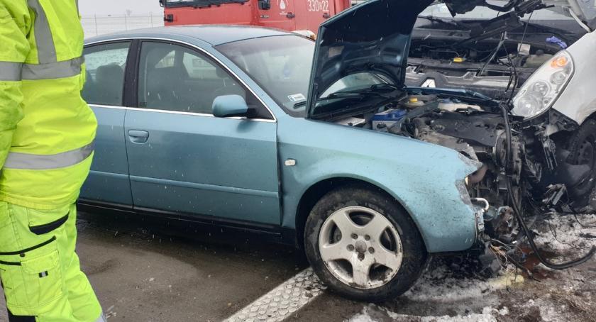 Autostrada A4, Pijany kierowca spowodował wypadek autostradzie Włącz Zello - zdjęcie, fotografia