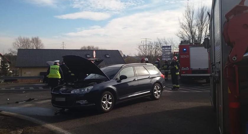 Wypadki drogowe, Wypadek Siechnicach - zdjęcie, fotografia