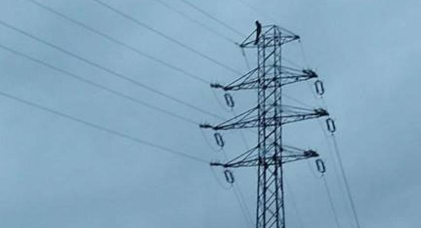 Interwencje, Desperat słupie wysokiego napięcia - zdjęcie, fotografia