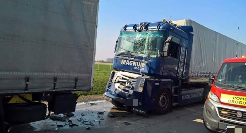 Autostrada A4, Karambol autostradzie Zderzyło ciężarówek - zdjęcie, fotografia