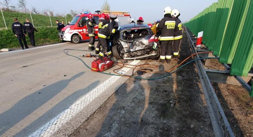 Autostrada A4, Groźny wypadek autostradzie - zdjęcie, fotografia