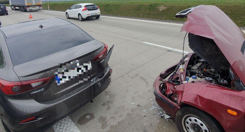 Autostrada A4, osoby ranne wypadku autostradzie Korek - zdjęcie, fotografia