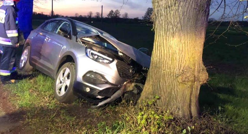 Wypadki drogowe, Kobieta rozbiła drzewie - zdjęcie, fotografia