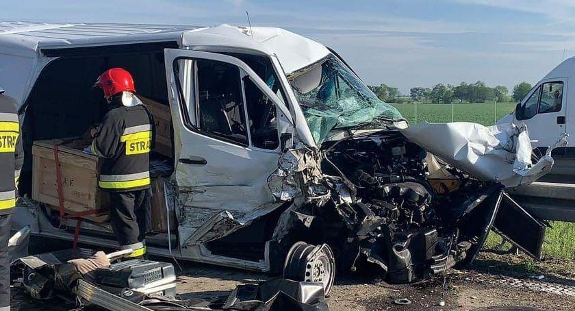 Autostrada A4, Zderzenie TiRem Lądował śmigłowiec - zdjęcie, fotografia