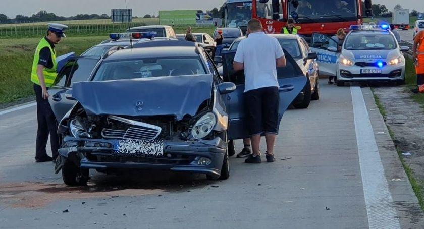 Autostrada A4, Olbrzymi korek wypadku autostradzie Wrocławiem - zdjęcie, fotografia