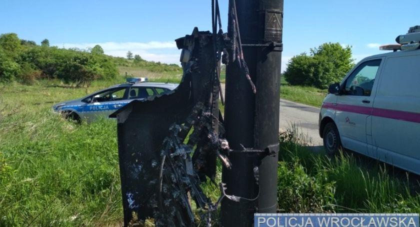 Kronika kryminalna, Podpalali słupy energetyczne policja zatrzymała czterech sprawców - zdjęcie, fotografia