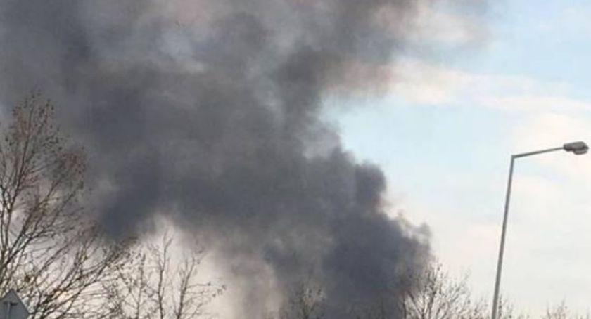 Pożary, Płonęły altanki działkach Klecińskiej - zdjęcie, fotografia