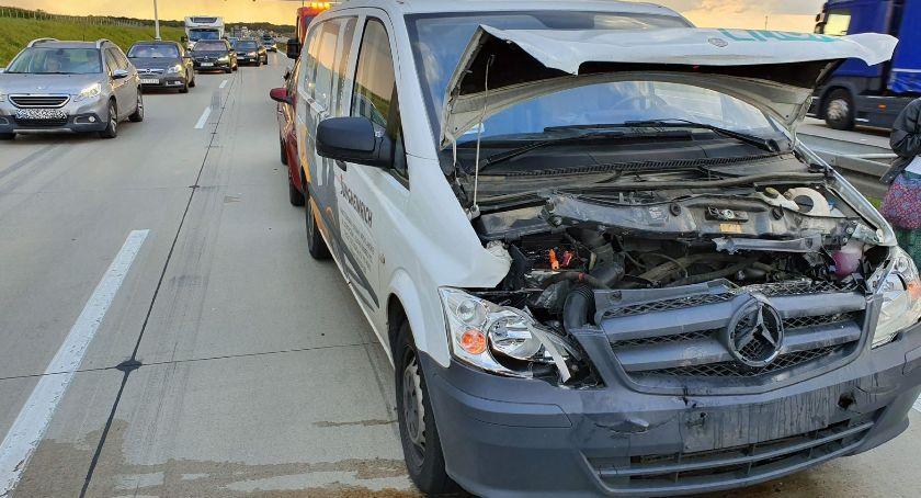Autostrada A4, Zderzenie samochodów Lądował śmigłowiec - zdjęcie, fotografia