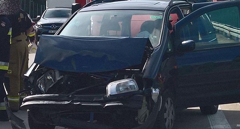 Autostrada A4, Zderzenie dwóch samochodów - zdjęcie, fotografia