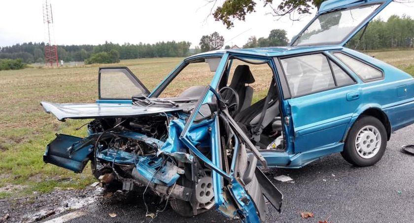 Wypadki drogowe, Koszmarny wypadek Głogowem - zdjęcie, fotografia