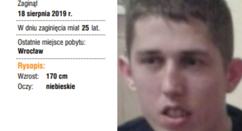 Zaginieni i Poszukiwani, Zaginął Artur Kuczera - zdjęcie, fotografia