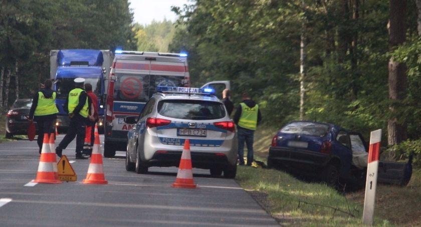 Wypadki drogowe, Śmiertelny wypadek koło Kliczkowa - zdjęcie, fotografia