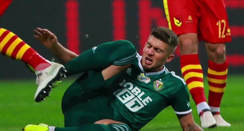 Piłka nożna, Śląsk Wrocław zremisował siebie Jagiellonią Białystok - zdjęcie, fotografia