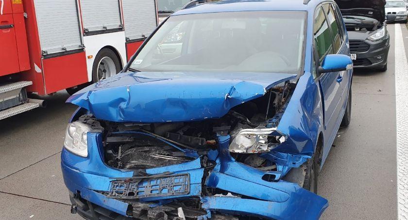 Autostrada A4, Karambol Zderzyło sześć samochodów - zdjęcie, fotografia
