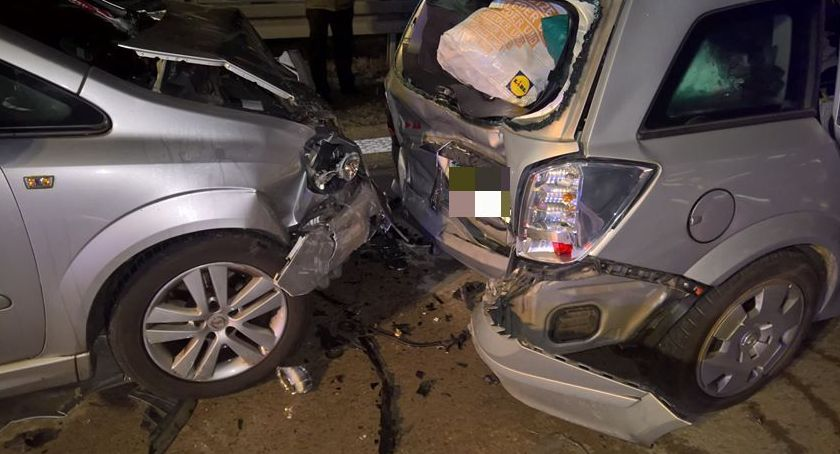 Autostrada A4, Zderzenie pięciu samochodów - zdjęcie, fotografia