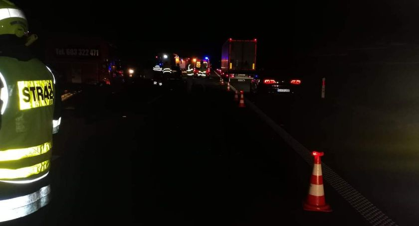 Autostrada A4, Wypadek pojazdów - zdjęcie, fotografia