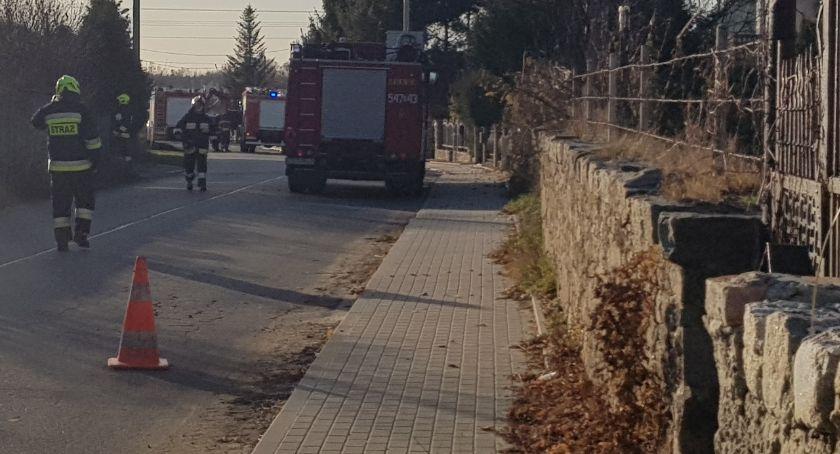 wybuch gazu, Uszkodzony gazociąg ewakuacja Szczawinie - zdjęcie, fotografia
