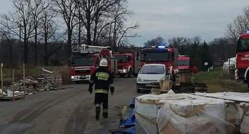 Pożary, Pożar miejscowości Stradòw - zdjęcie, fotografia
