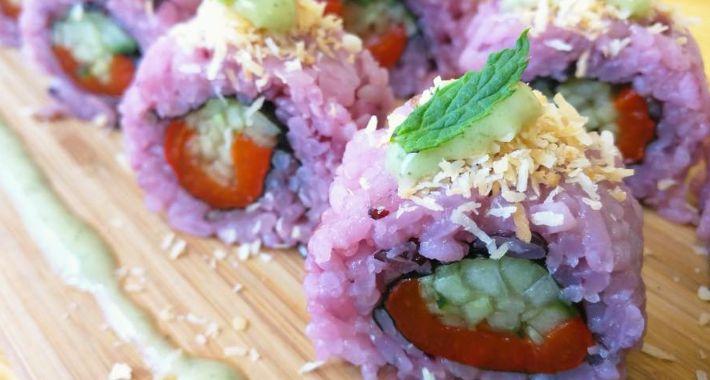 Kuchnia, Wegetariańskie sushi - zdjęcie, fotografia