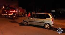 Pijany jadąc samochodem osobowym doprowadził do kolizji z wozem strażackim