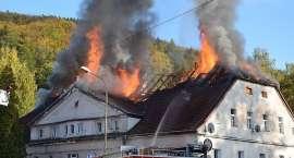 Pożar domu wielorodzinnego pod Jelenią Górą