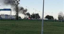 Pożar samochodu na Bielanach.