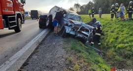 Zderzenie trzech aut na autostradzie A4 pod Wrocławiem