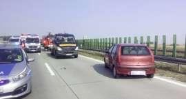 Zamknięta A4 - Zderzenie na autostradzie
