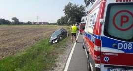 Wypadek koło Cesarzowic.