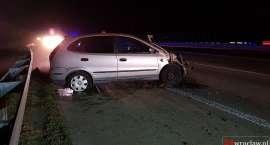 Na autostradzie A4 auto uderzyło w bariery