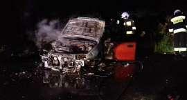 Nocny pożar auta pod Wrocławiem