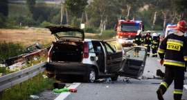 Śmiertelny wypadek na krajowej ósemce