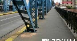 Ruch tramwajowy na moście Sikorskiego wstrzymany do odwołania