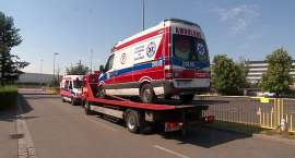 Policja zarekwirowała ambulans z powodu zbyt wysokiej wagi