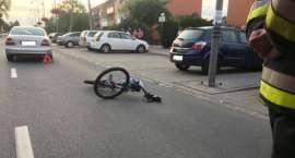 Potrącenie rowerzysty w Kobierzycach. Poszkodowany 12-letni chłopiec