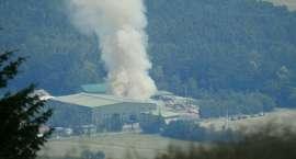 Pożar składowiska odpadów pod Jelenią Górą