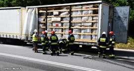 Pożar samochodu ciężarowego w Bardzie