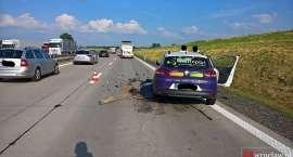 Zderzenie na autostradzie A4