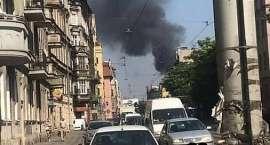 Pożar garaży na Traugutta