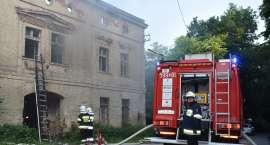 Pożar starego młyna w Bardzie