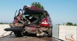 Cztery osoby ranne w wypadku na autostradzie
