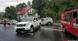 Zablokowana droga Wrocław - Jelenia Góra po wypadku w Kaczorowie