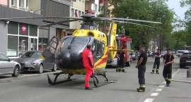 Przyleciał do chorego i się zepsuł. Helikopter LPR zablokował opolską ulicę na pięć godzin