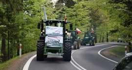 Rolnicy blokują drogę ze Szklarskiej Poręby do granicy w Jakuszycach