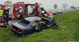 Zderzenie auta osobowego z TiRem